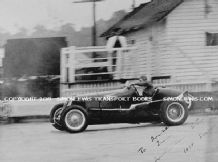 Maserati 8CM Grand Prix car Whitney Straight on track at Brooklands 1934 (Printed autograph)